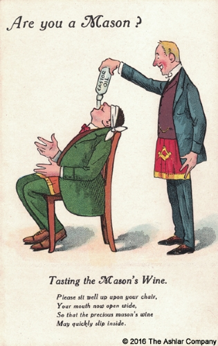 Are you a mason? Tasting The Masons Wine Postcard