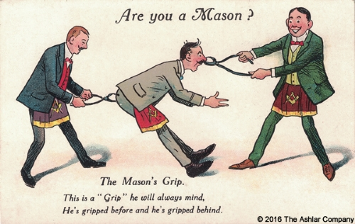 Are you a mason? The Masons Grip Postcard