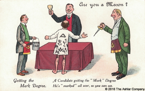 Are you a mason? Getting The Mark Degree Postcard