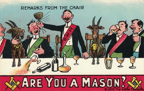 Are you a Mason? Remarks from the Chair Postcard