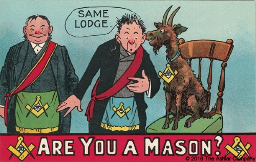 Are you a Mason? Same Lodge Postcard