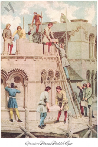 Operative Masons of the Middle Ages Print
