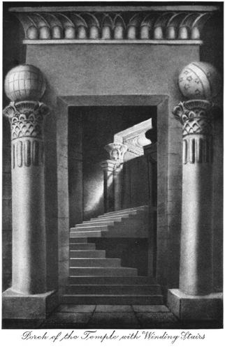 Porch of the Temple with Winding Stairs Print