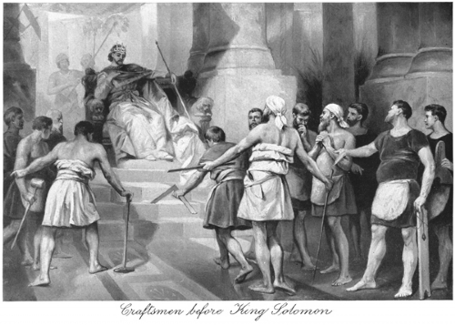 Craftsmen Before King Solomon Print