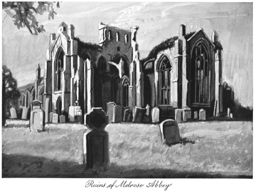 Ruins of Melrose Abbey Print
