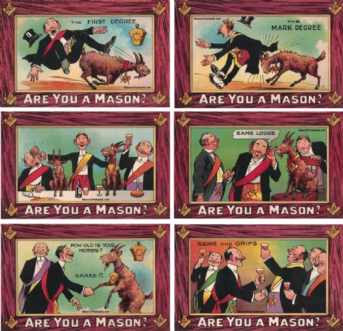 Are you a Mason? 6 Postcard Set