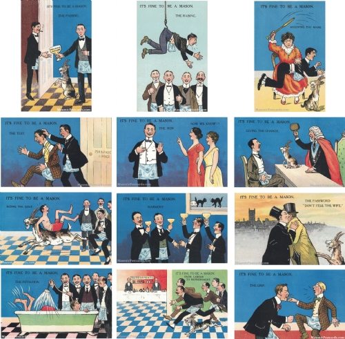 Its fine to be a Mason? 12 Postcard Set
