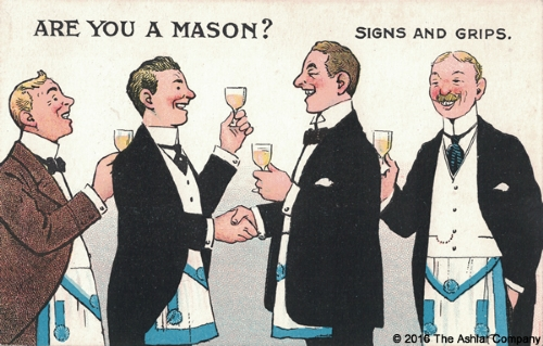 Are you a Mason? Signs and Grips Postcard