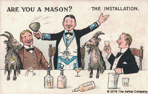 Are you a Mason? The Installation Postcard