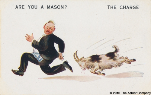 Are you a Mason? The Charge Postcard