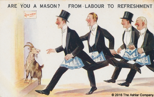 Are you a Mason? From Labour to Refreshment Postcard