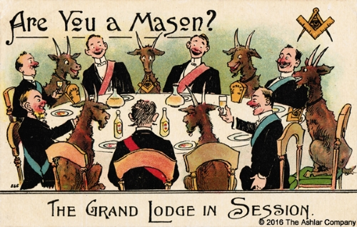 Are you a Mason? - The Grand Lodge in Session Postcard