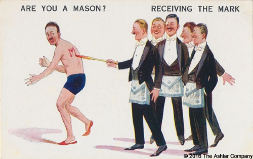 Are you a Mason? Receiving the Mark Postcard