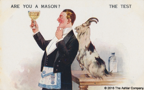 Are you a Mason? The Test Postcard
