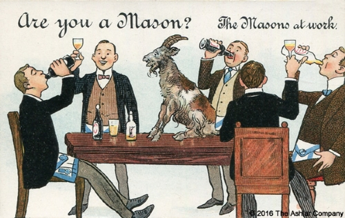 Are you a Mason? The Masons at Work Postcard