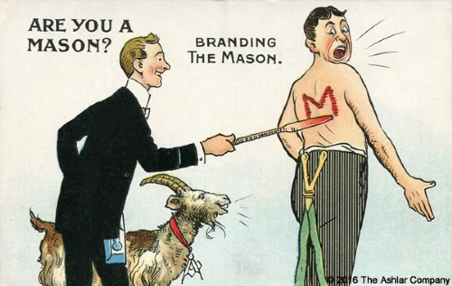 Are you a Mason? Postcard