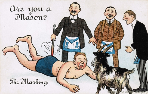 Are you a Mason? The Marking Postcard