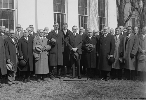 President Coolidge with the Grand Masters