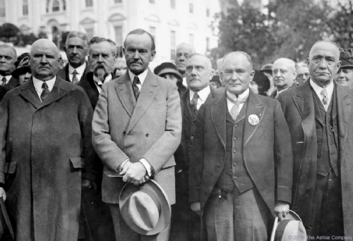 President Coolidge with Masonic Delegation