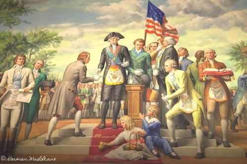 Washington Laying the Cornerstone