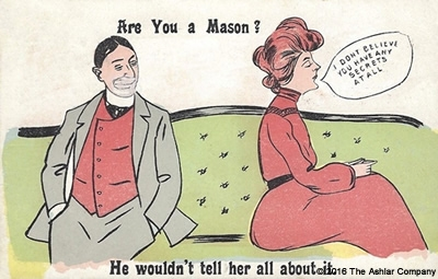 Are you a Mason? He wouldnt tell her about it