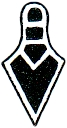D-2 - The trowel is a very common side emblem for Master Mason rings.