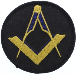 Gold Square & Compass Patch (No G) Model # 357474