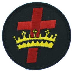 Knights Templar Cross & Crown Patch