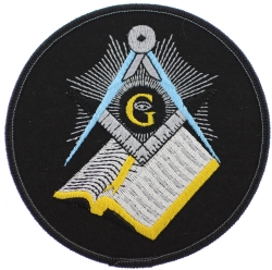 Square & Compass Bible Patch (Large)