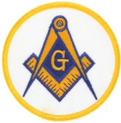 Gold Square & Compass Patch Model # 357495