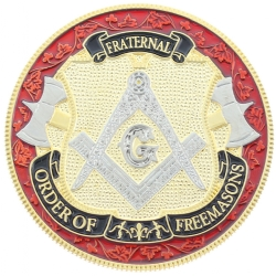 Engravable Masonic Challenge Coin