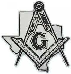 Texas Mason Chrome Emblem
