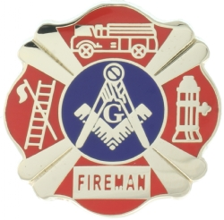 Fireman Mason Lapel Pin Model # 357742