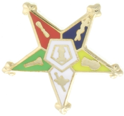 Eastern Star Lapel Pin Model # 357758