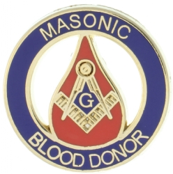 Masonic Blood Donor Pin Model # 357793