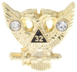 Jeweled Scottish Rite Wings Up Pin Model # 357801