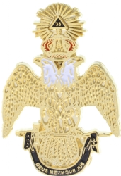 Southern Scottish Rite 33rd Degree Lapel Pin Model # 357802