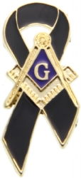Masonic Mourning Ribbon Pin Model # 357809