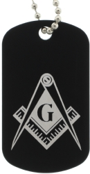 Black Masonic Dog Tags Model # 357903