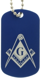 Blue Masonic Dog Tags Model # 357905