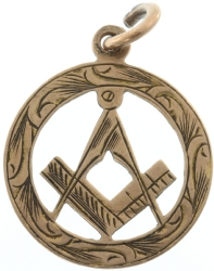 9k Gold 1853 Masonic Pendant Model # 357916