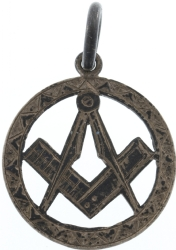Antique Silver Masonic Pendant Model # 357926