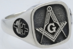 Design Your Own Custom Square Masonic Ring