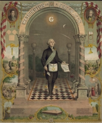 Washington as a Freemason Print Model # 358407