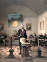 George Washington as Master of His Lodge Model # 358408