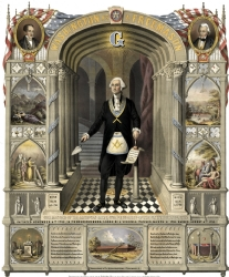 Washington as a Freemason Poster Model # 358409