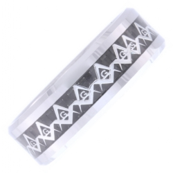 Tungsten Square & Compass Sequence Band Model # 358467