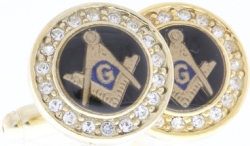 Crystal Masonic Cufflinks Model # 358488