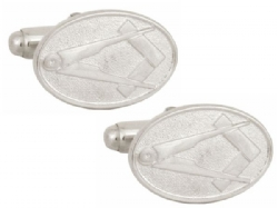 Sterling Silver Square & Compass Cufflinks Model # 358524