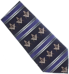 Navy Blue Masonic Tie Model # 358569